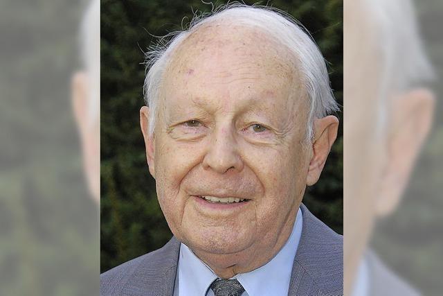 Hans Waeldin, Grandseigneur der Lahrer FDP, feiert 85. Geburtstag