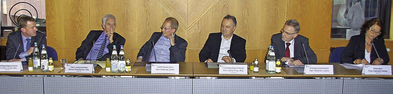 Politker äußerten sich sachkundig zum ...h Fragen von ehrenamtlichen Betreuern.  | Foto: Rolf Reißmann