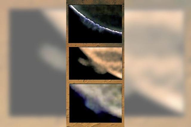 Forscher entdecken riesige Wolken beim Mars