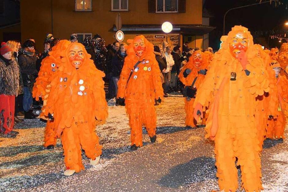 Impressionen vom Nachtumzug in Wyhlen (Foto: Martin Eckert)