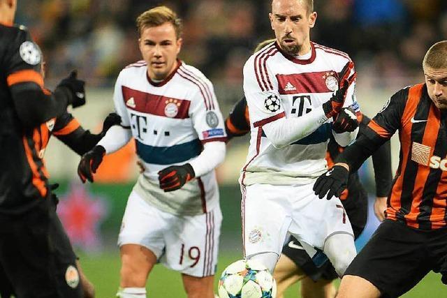Champions-League-Achtelfinale: FC Bayern spielt unentschieden.