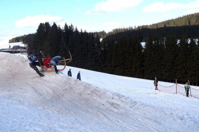 Hornschlittenrennen in Waldau