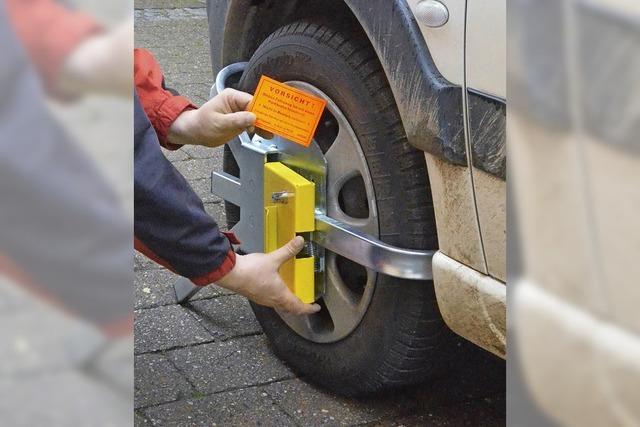 Parkkralle ist regelmäßig im Einsatz