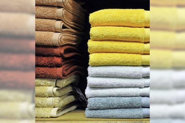 Auch Handtücher werden gebraucht