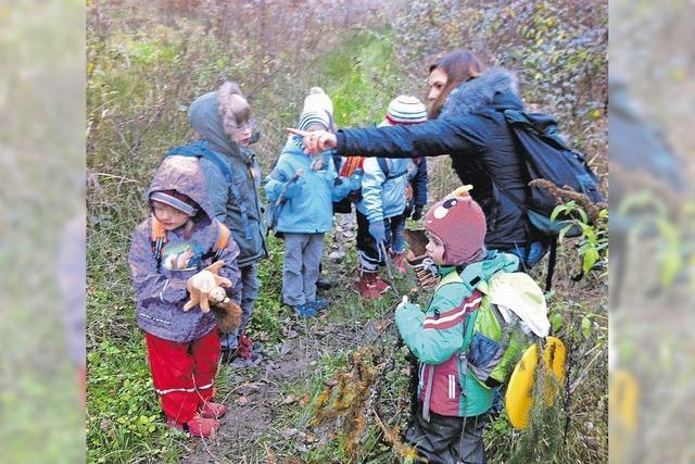 Kinder gehen auf Spurensuche