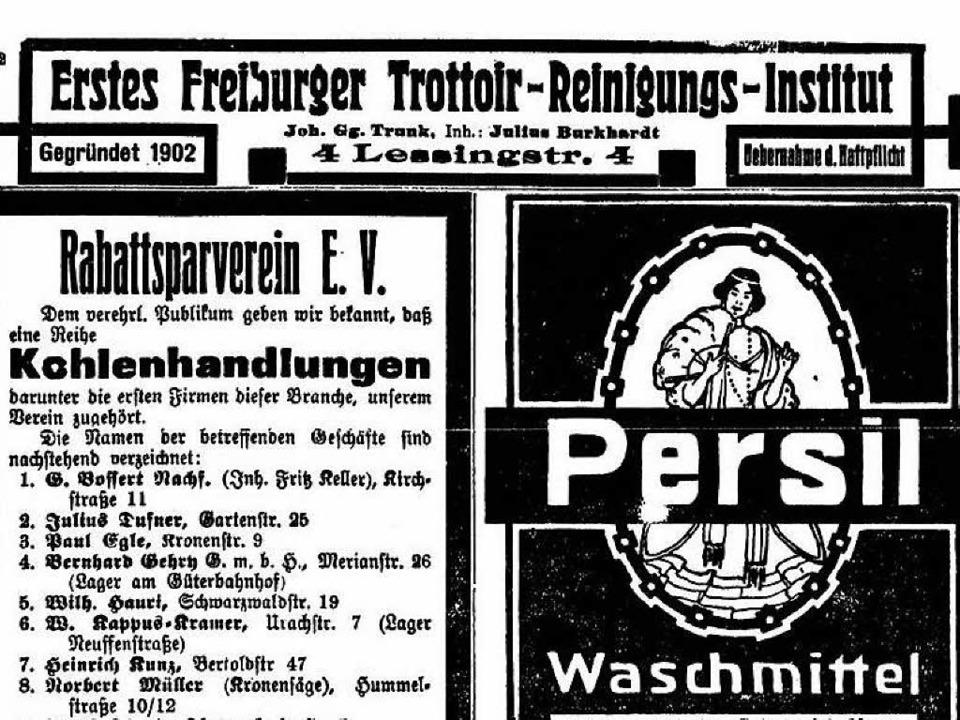 Schon im Jahr 1911 wurde die Trottoir-...iburger Zeitung vom 5. Mai 1911 zeigt.  | Foto: Repro: Privat