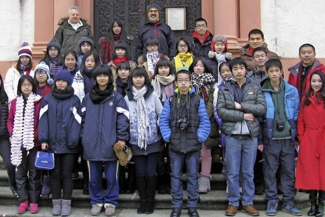 Chinesen lernen deutsche Kultur kennen