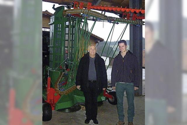 Erntemaschine für Energieholz gebaut