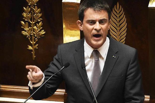 Frankreichs Premier Valls übersteht Misstrauensvotum