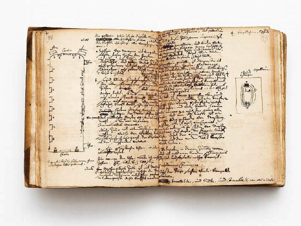 Ein Blick in Silbermanns Reisetagebuch  | Foto: SLUB Dresden