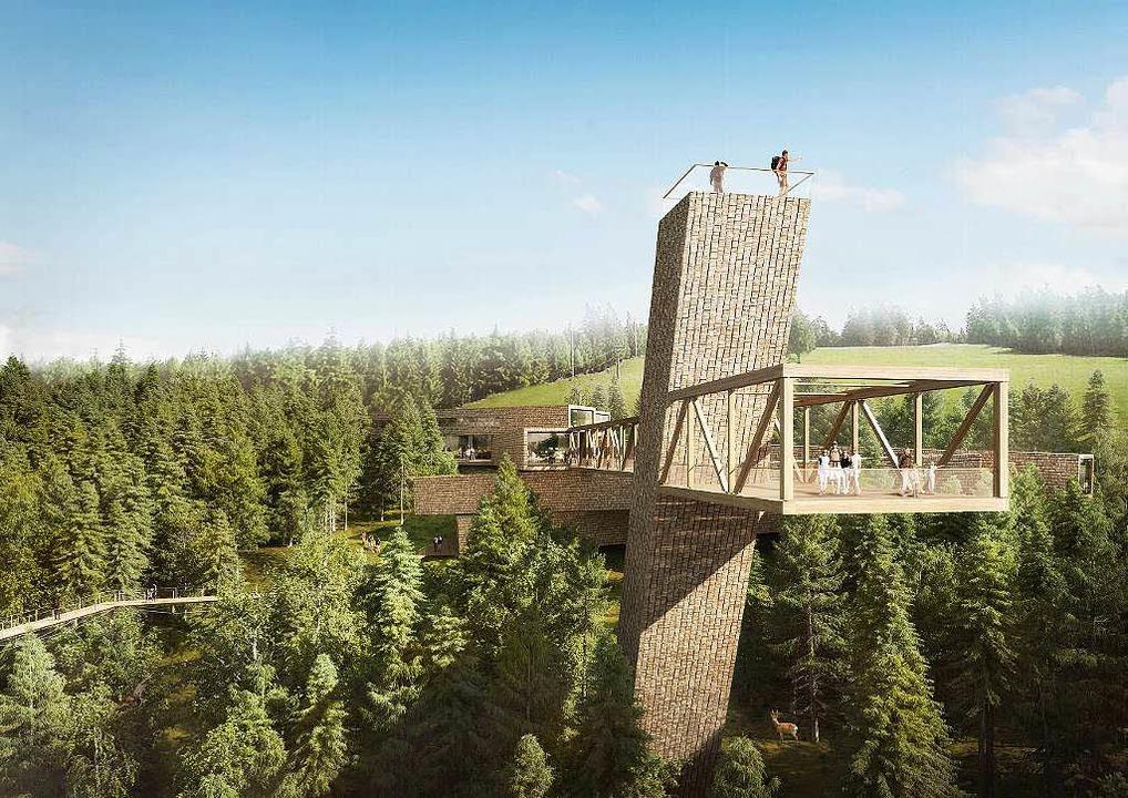 Zwei der Attraktionen des geplanten Be...ums: der Skywalk und der Aussichtsturm  | Foto: Visualisierung Architekten Sturm und Wartzeck GmbH