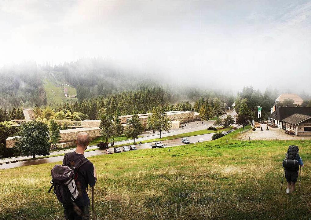 Das Besucherzentrum wird am Ruhestein gebaut.  | Foto: Visualisierung Architekten Sturm und Wartzeck GmbH
