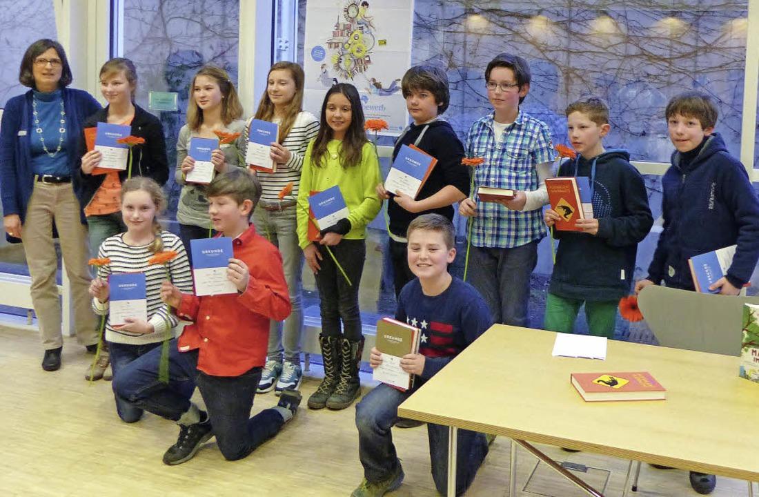 Elf Schulsieger haben aus ihren Lieblingsbüchern vorgelesen.     Foto: Privat