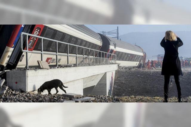 Zwei Züge kollidieren