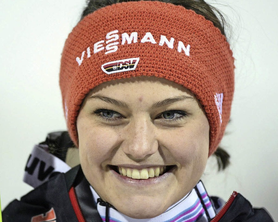 Weltmeisterin: Carina Vogt   | Foto: dpa