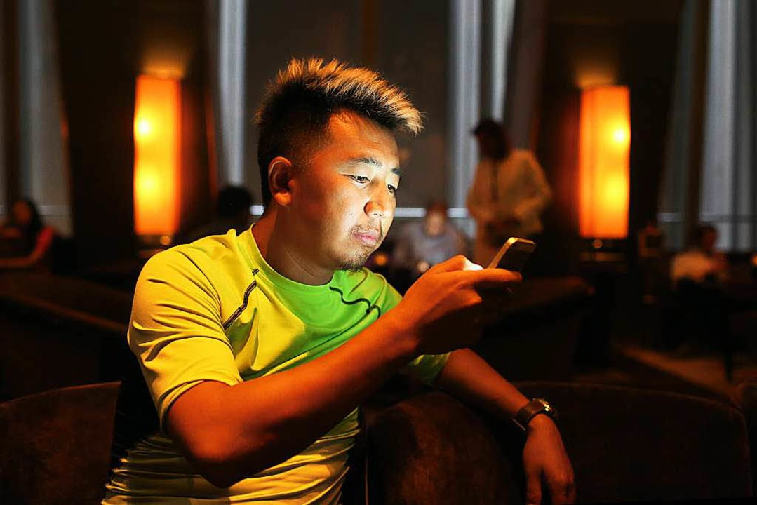 Ganz der Chef:  Studiobesitzer Chen Yongqing  | Foto: Sascha Montag (Zeitenspiegel)