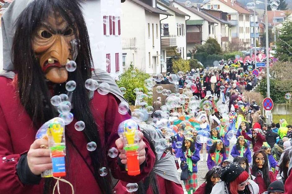 In Hauingen regnete es nur Konfetti. (Foto: Barbara  Ruda)
