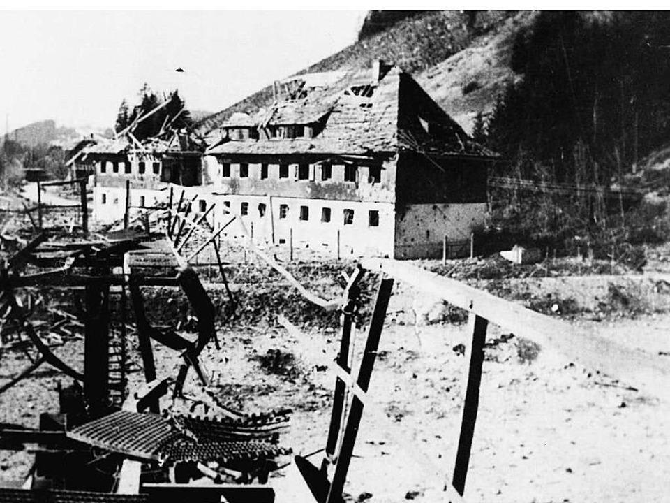 Völkerbundhaus und Unterwerk wurden du...e bis auf den Hirschbühl geschleudert.  | Foto: Privat
