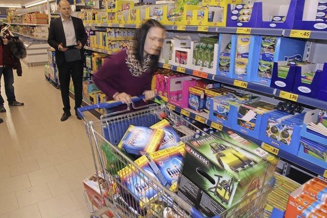 Vollgas im Supermarkt