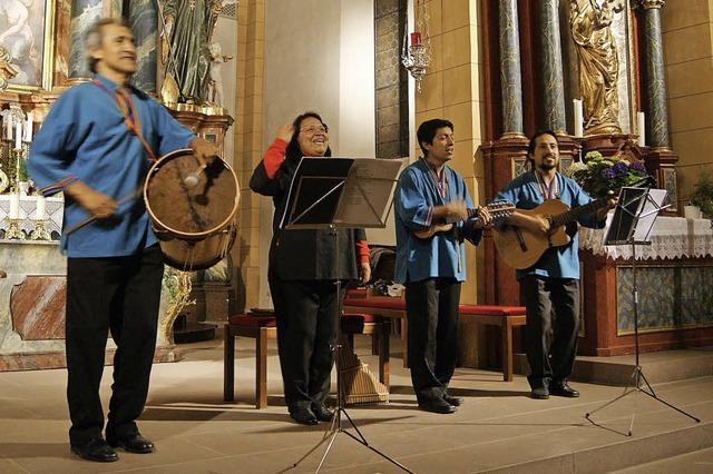 Musikgruppe Siembra aus Perru in Oberried