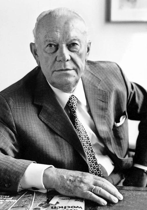 Senator Franz Burda  im Jahr 1983.   | Foto: dpa