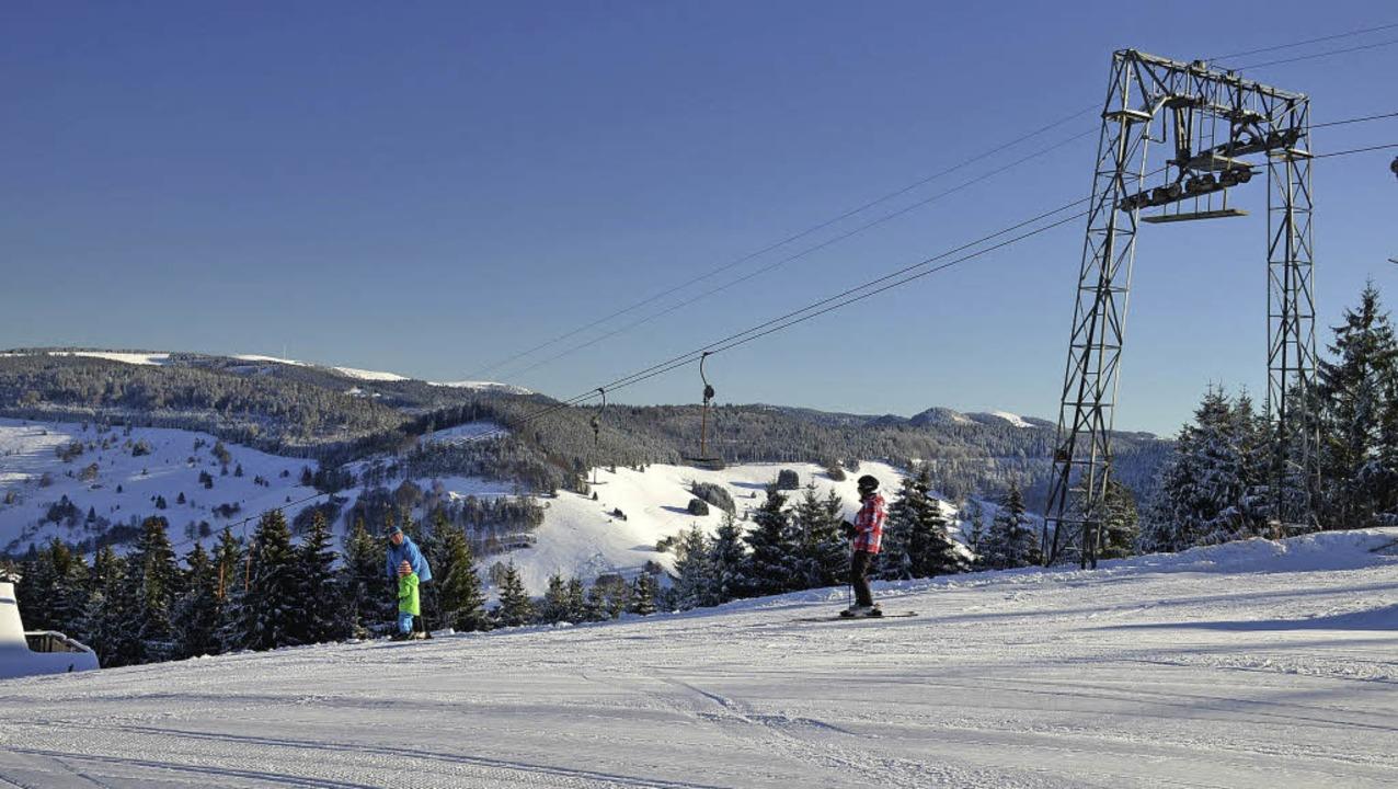Das Skigebiet Wieden-Münstertal: Am Ro...ie Musikanten-Skimeisterschaft statt.   | Foto: Hennicke