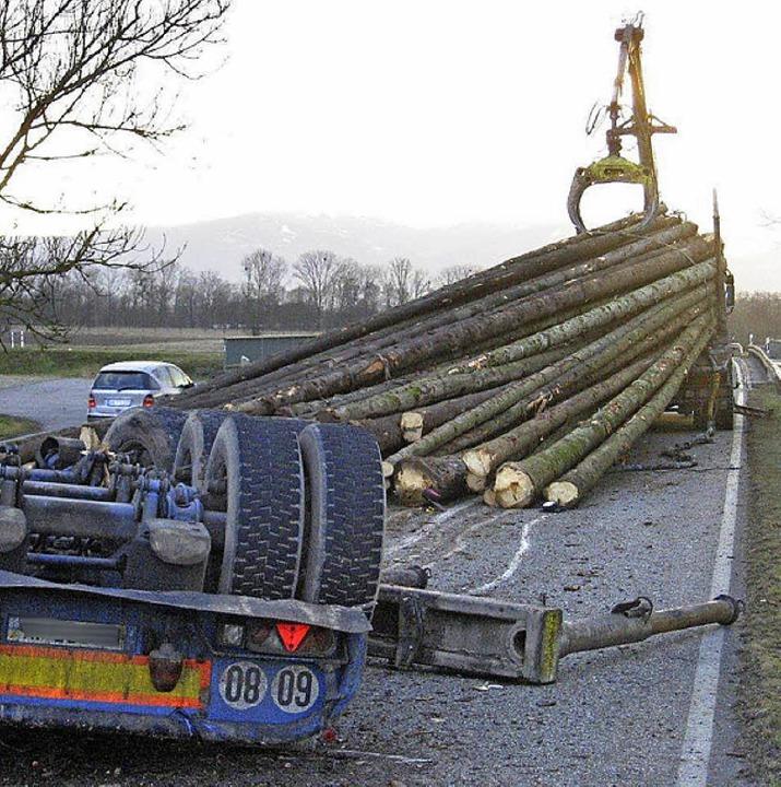 Langholz-Unfall auf der L87  | Foto: BZ
