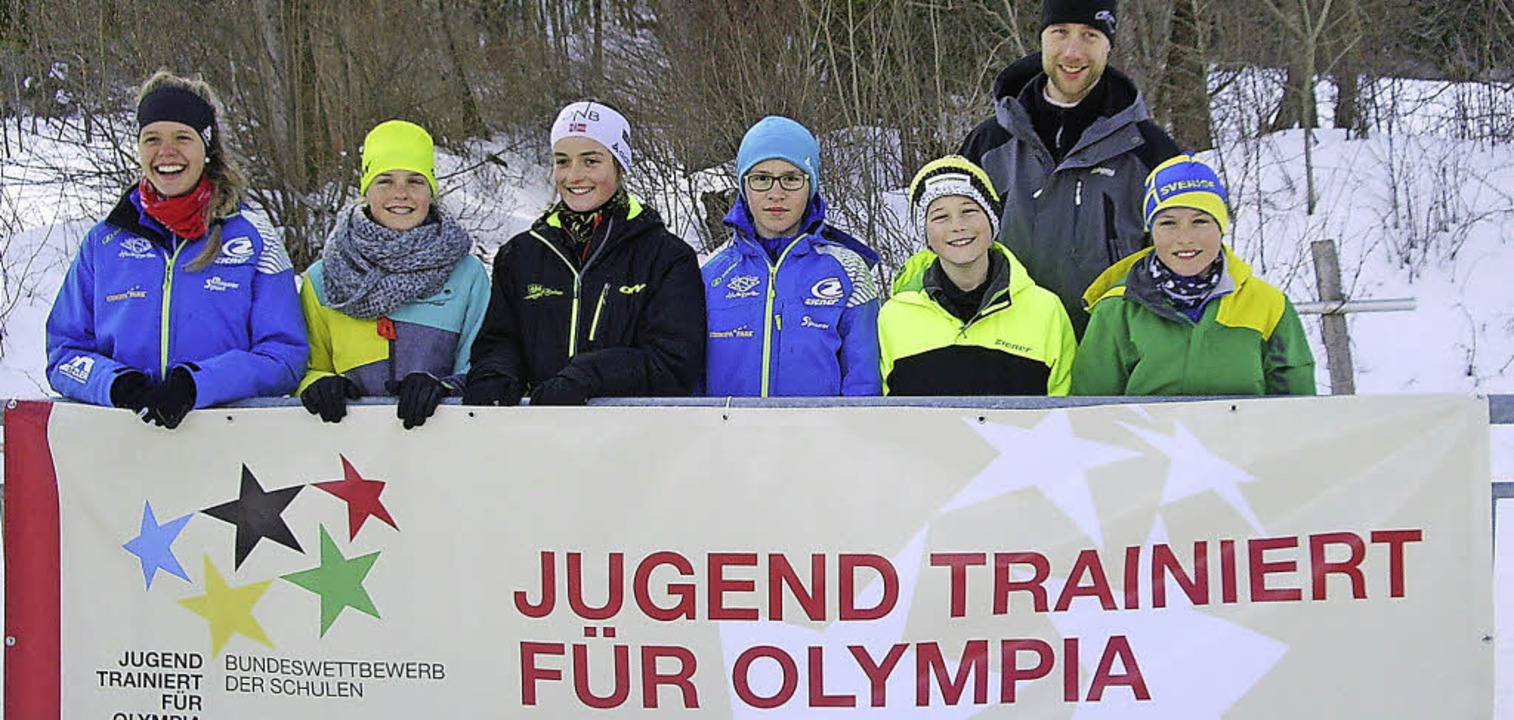 Die jungen Wintersportler des Kreisgymnasiums   | Foto: Privat