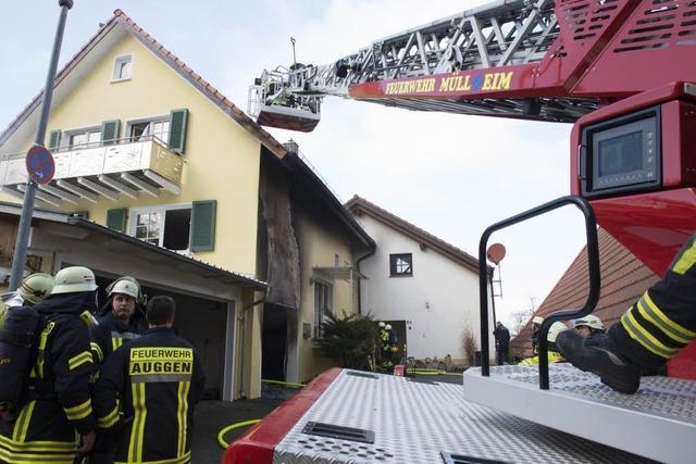 Gasofen löst Brand in Auggen aus – ein Verletzter