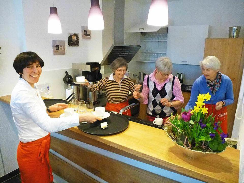 Die Küche hat sich schon bewährt, die ... auch den großen Ansturm der Besucher.    Foto: Peter Stellmach