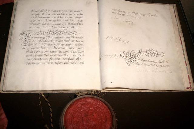 Ein Schatz mit Brief und Siegel