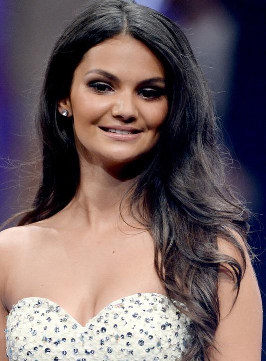 Miss Norddeutschland, Luana Rodriguez,... dort fleißig für die Kameras posiert.    Foto: dpa