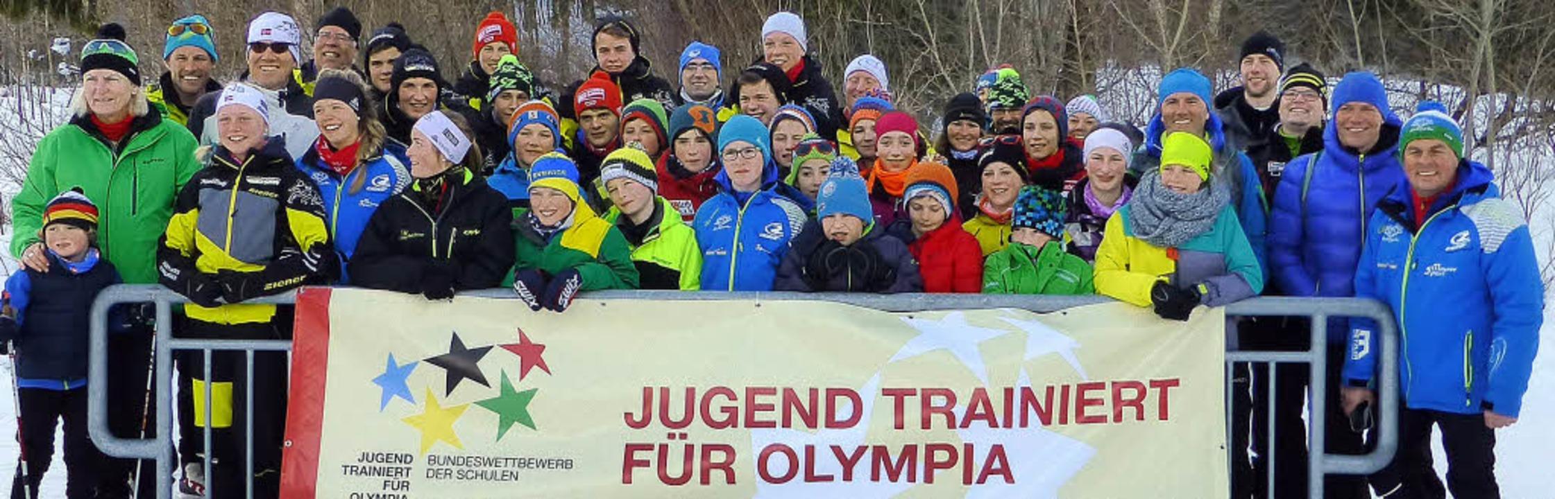 Das Team Baden-Württemberg mit den erf...aus Titisee-Neustadt und Kirchzarten.   | Foto: Andreas Heitzmann