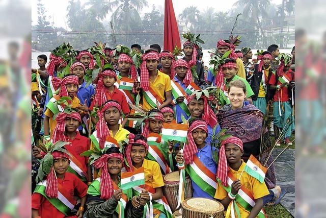 Paula Grzesiek berichtet über ihr Indien-Jahr im Lörracher Nellie Nashorn