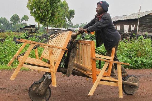 Chikudus sind Möbelwagen der anderen Art im Kongo