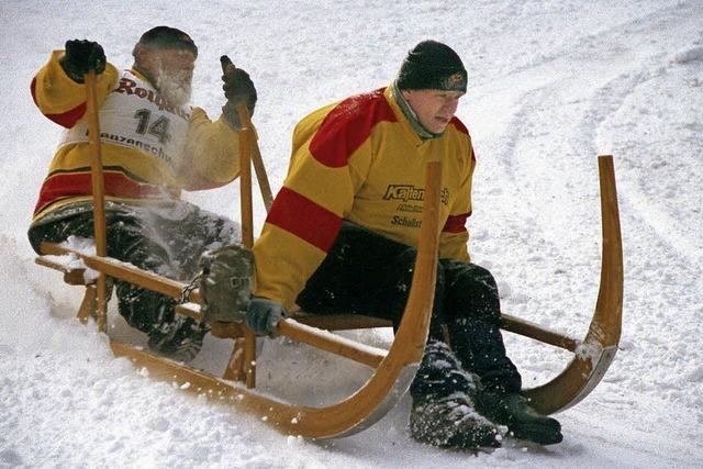 Hornschlittenrennen in Schönwald