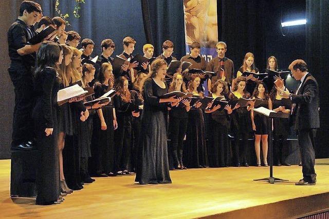 Chor des Reut-Gymnasiums Haifa singt in Kippenheim