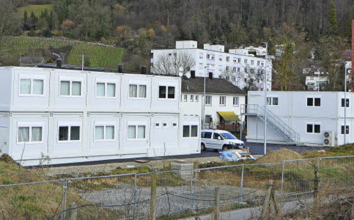 Das Containerdorf der Roche am ehemaligen Salzländeweg ist fertig.    Foto: Ralf H. Dorweiler