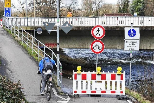 Dreisamradweg ist bis Ende 2016 gesperrt – Umleitung eingerichtet