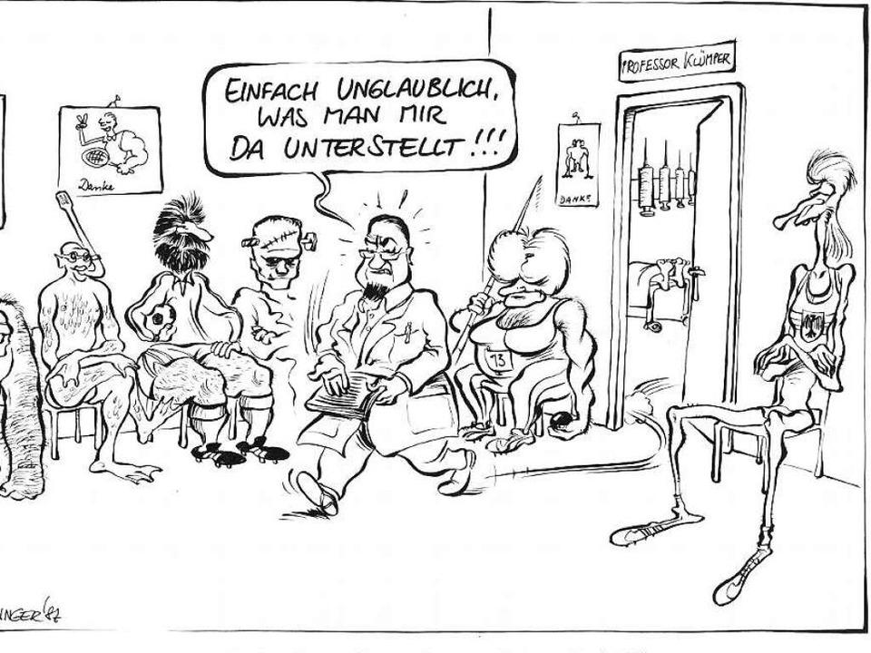 Die Vorwürfe gegen Armin Klümper waren...en Karikaturisten Christoph Härringer.  | Foto: Härringer