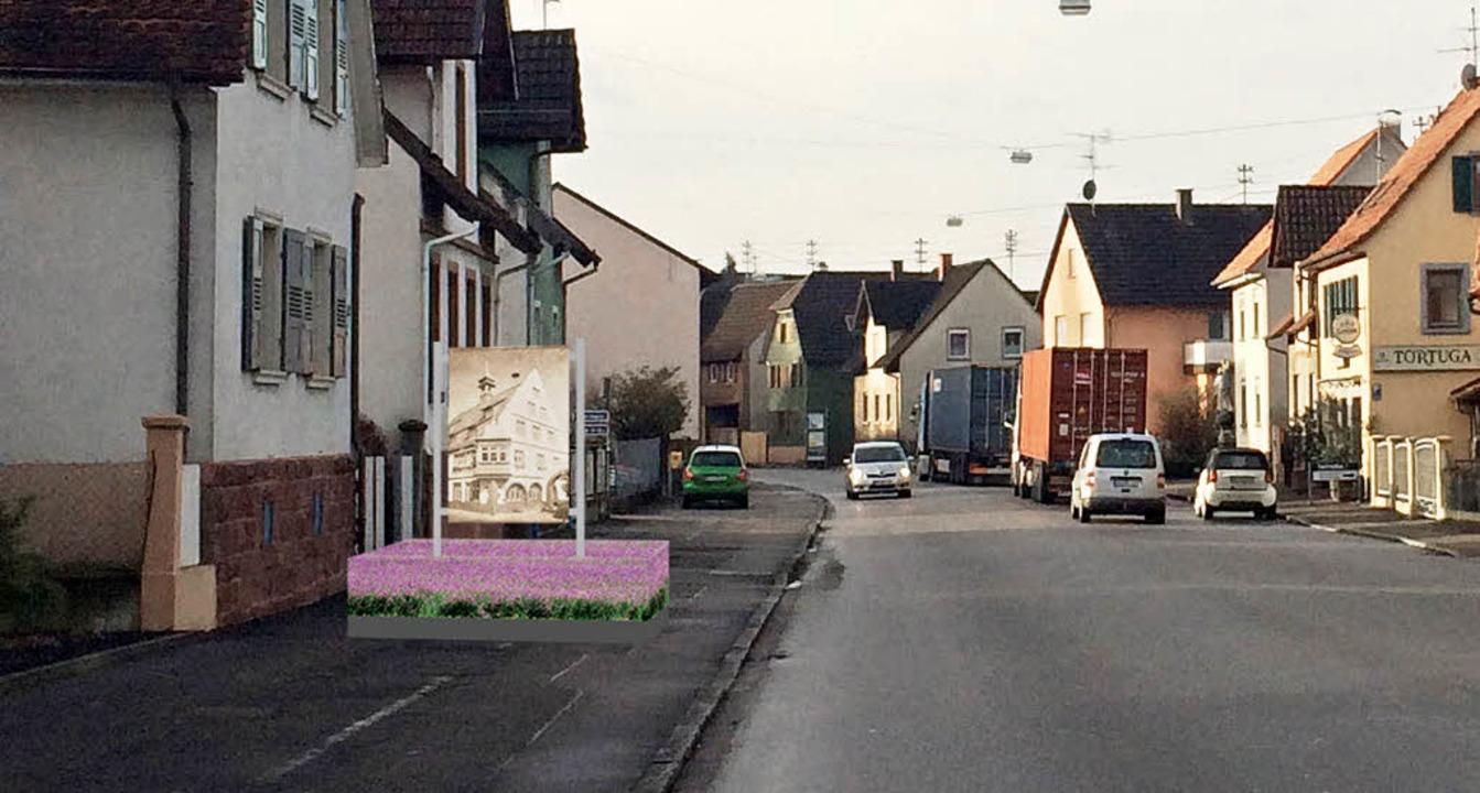 Bilderrahmen am Ortseingang - Kippenheim - Badische Zeitung