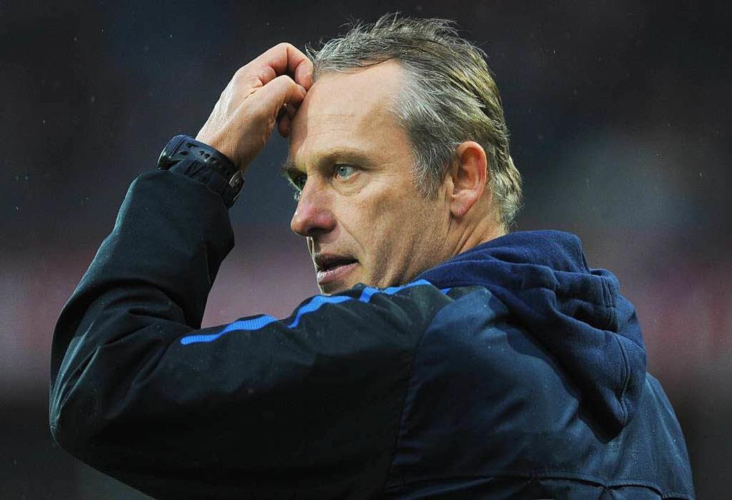 Der Trainer des SC Freiburg, Christian Streich, muss 8000 Euro Strafe zahlen.    Foto: dpa