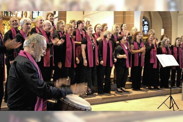 Der Chor Soulvation tritt in Kenzingen auf