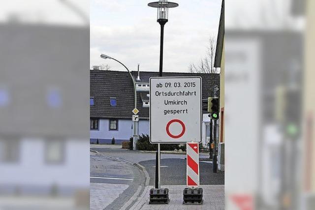 Anschluss für March – Sperre in Umkirch