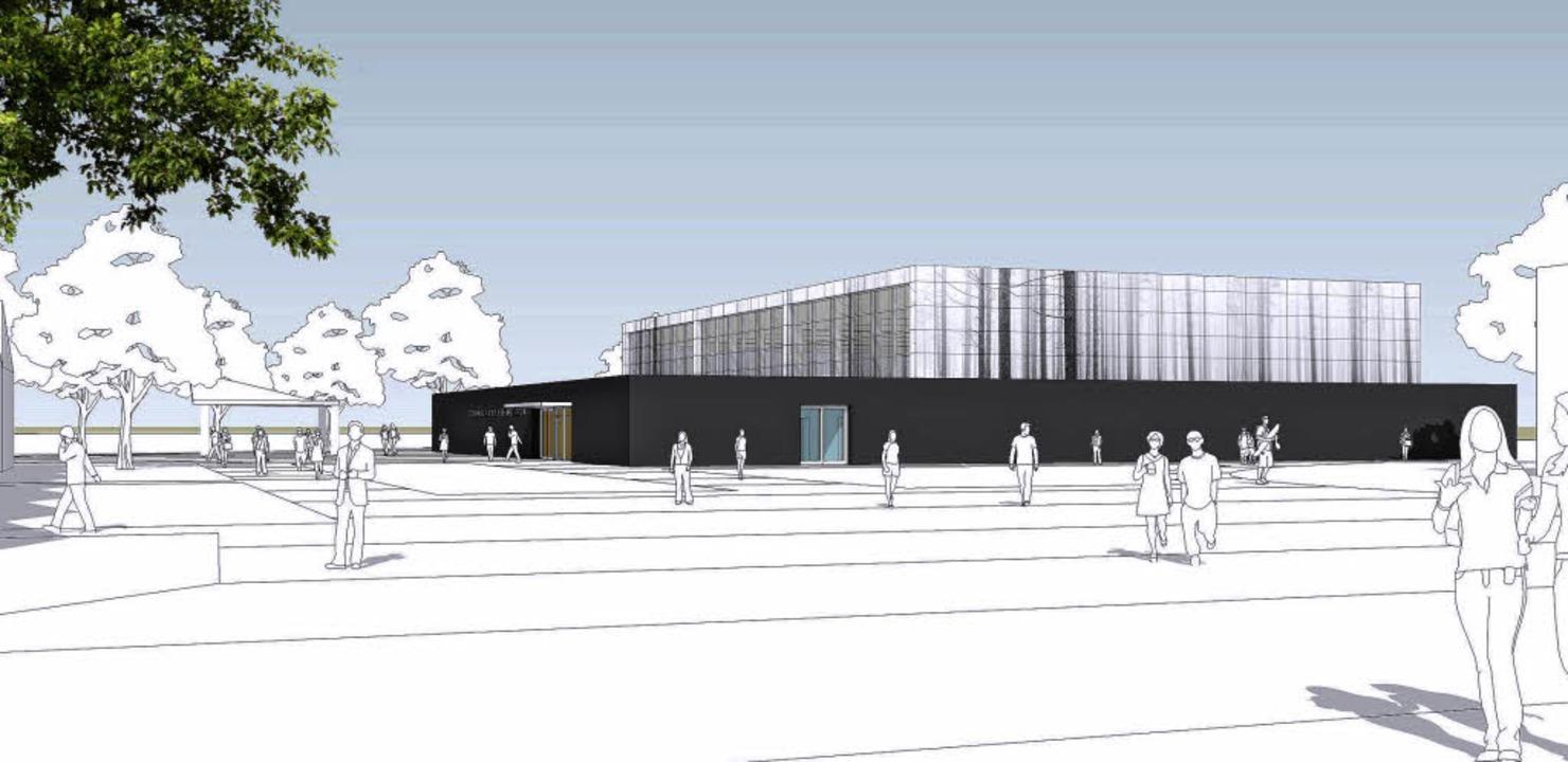 Die neue Halle mit  eleganter Optik  | Foto: Bild: Architekturbüro Loewer + Partner