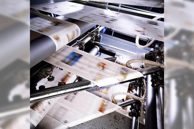 Blick in die Druckerei