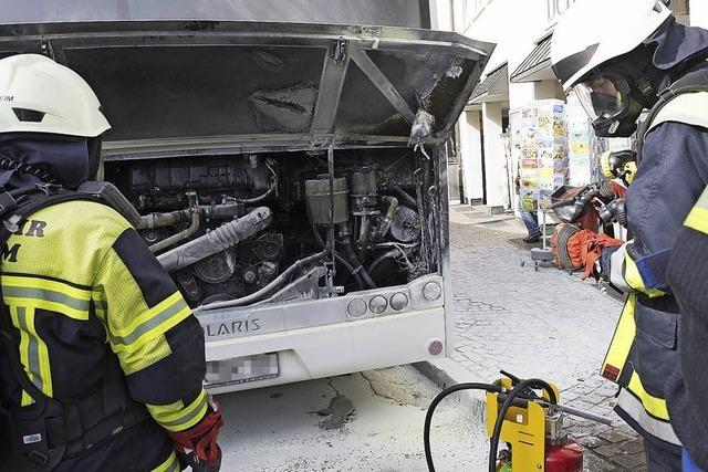 Brand im Bus: Gefahr gebannt