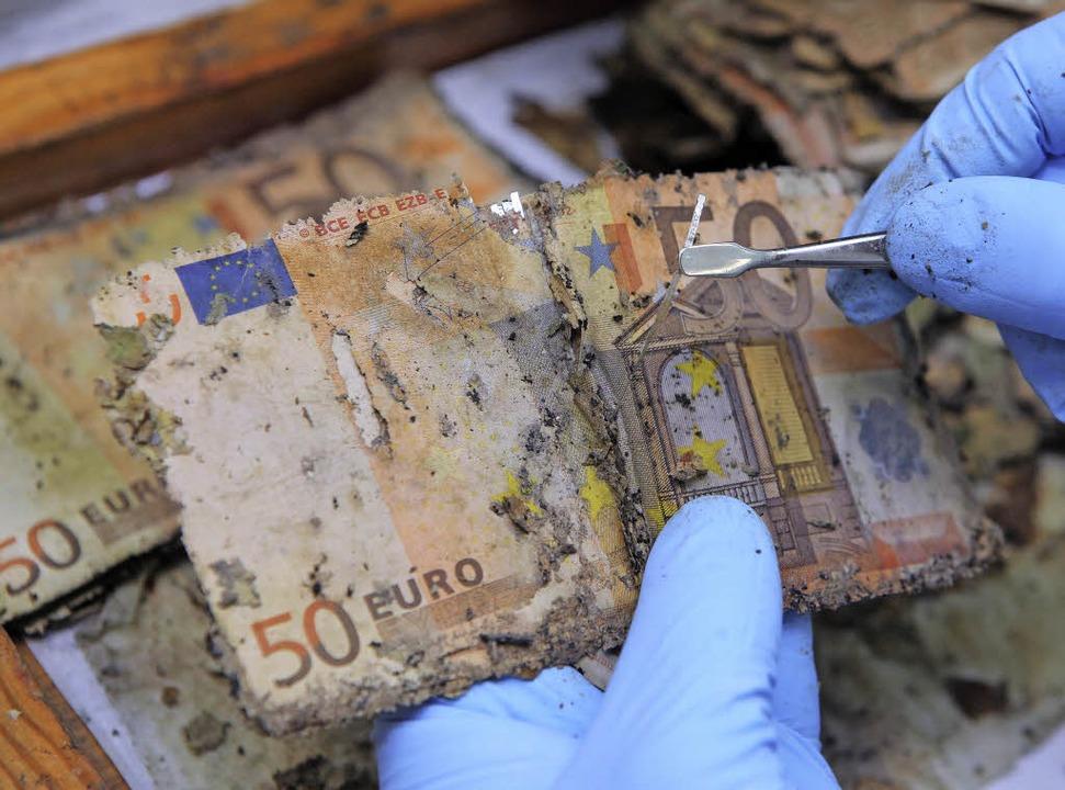 Ist der Euro noch zu retten und wenn j...ten Stapel  Fünfziger flottzukriegen.   | Foto: dpa
