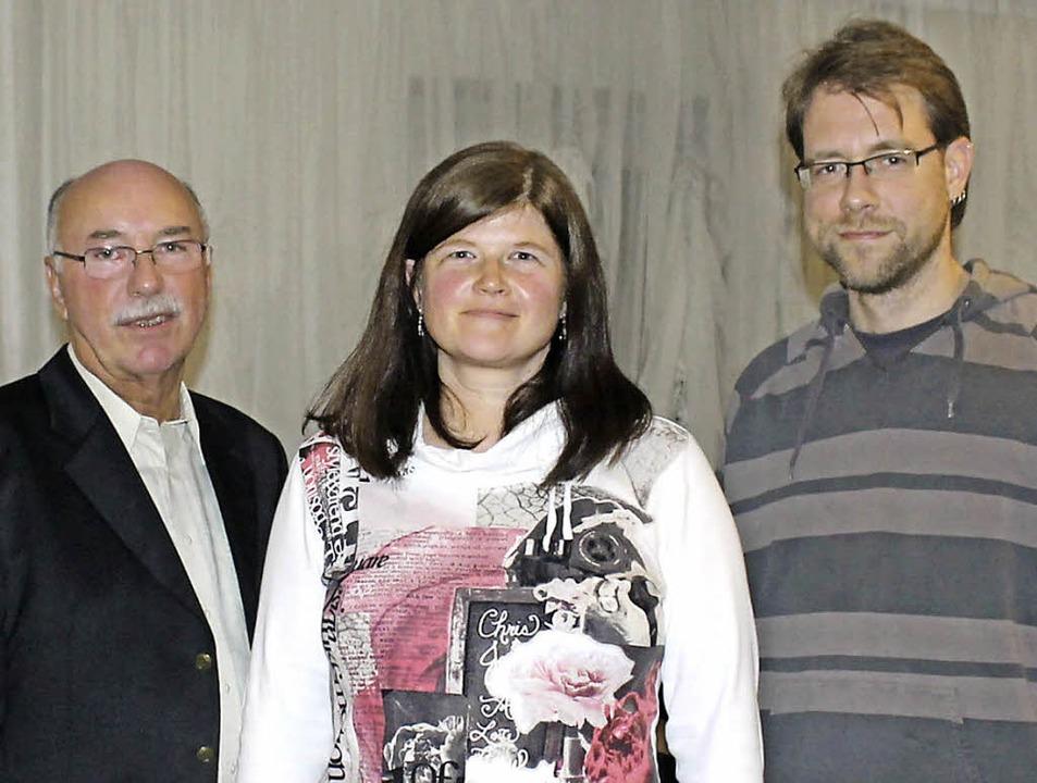 Vorsitzender Rolf Grandis (von links),...tversammlung der Kleinkaliberschützen   | Foto: Albert Greiner