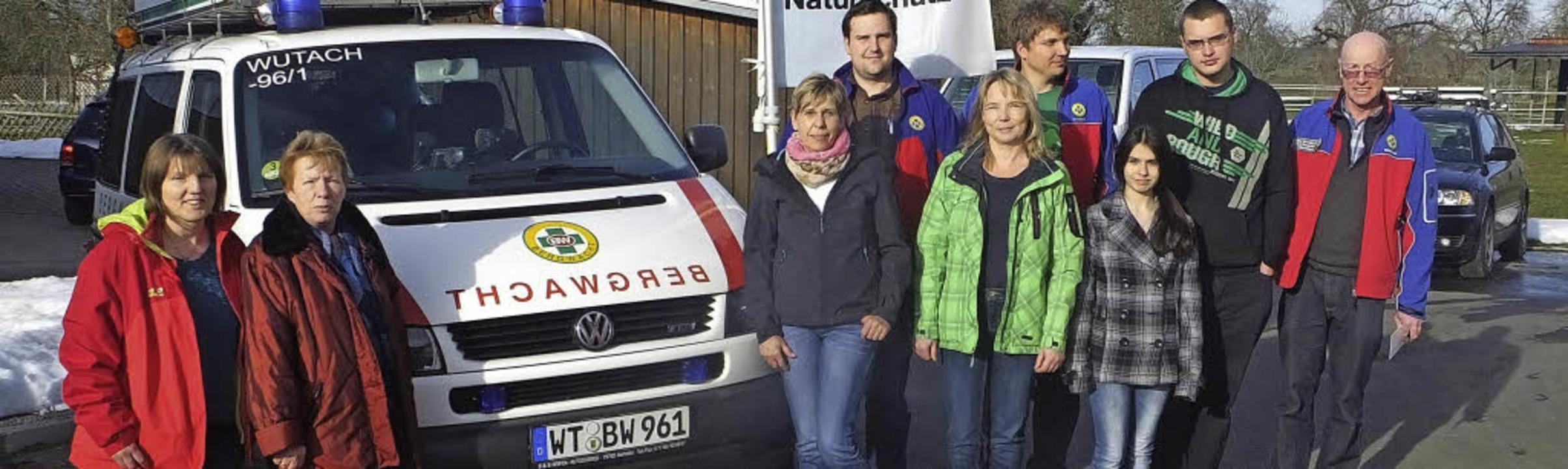 Die Ortsgruppe Wutach freut sich über ihre neue Rettungswache  in Ewattingen.     Foto: Bruno Morath